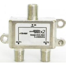 Делитель 2 выхода 5-2400 Мгц DVS-S102