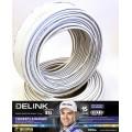 Морозостойкий ТВ кабель DELINK 75 Ом RG6